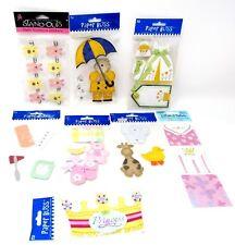 Bulk Lot #63 8 packs Paper Bliss Jumbo Stickers Baby Girl Animals Dress + 29 pcs