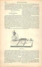 Crayon Voltaïque Plume Thomas Edison étincelle électrique GRAVURE OLD PRINT 1880
