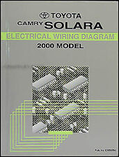 2000 Toyota Camry Solara Coupe Wiring Diagram Manual Electrical