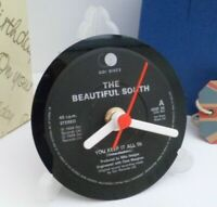 *new* THE BEAUTIFUL SOUTH CLOCK actual VINYL RECORD CENTRE Desk / Table Stand