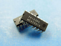 5x 74123PC, Dual Monostable Multivibrator, Tungsram 74123 IC