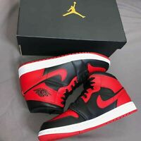 Nike Air Jordan 1 Mid Banned 2020 (GS) - UK 5.5 - Next day delivery