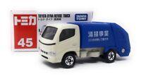 Tomica Modellauto LKW Nr 45 Toyota Dyna Müllfahrzeug blau weiß Takara Tomy