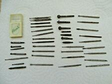 Selection of 46  New and Used Burrs for jewellery making busch etc
