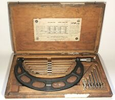 Starrett No 224g Set 6 To 12 Micrometer Set Interchangeable Anvil