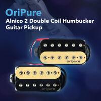 OriPure Alnico 2 Double Coil Humbucker Guitar Pickup Neck 7K / Bridge 8.5K / N+B