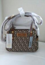 Dkny Heritage with saffiano pvc Mini Duffle Crossbody satchel chino walnut