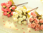 15 Heads Flower Bouquet Rose Art Silk Flower Leaf Bridal Home Wedding Decoration