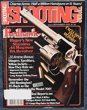 Magazine SHOOTING TIMES, Nov 1979 RUGER Redhawk Stainless .44 Magnum DA REVOLVER