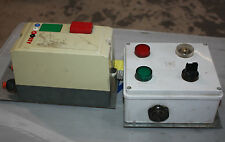 ABB Electrical start stop box with attached timer indicator and alarm