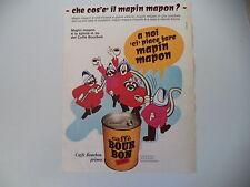 advertising Pubblicità 1968 CAFFE' BOURBON BOUR BON