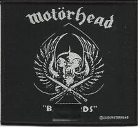 MOTORHEAD b*****ds skull 2010 WOVEN SEW ON PATCH official merchandise LEMMY