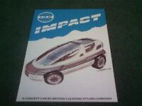 1987 1988 IAD IMPACT SUV CONCEPT CAR - UK COLOUR BROCHURE