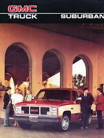 1986 GMC Suburban 8-page Original Sales Brochure Catalog