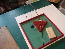 vintage original game: TEN PIN GAME--buffalo toy, knock down game in box