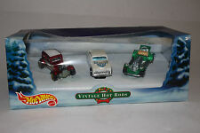 HOT WHEELS CHRISTMAS VINTAGE HOT RODS 3-CAR GIFT SET, 1:64 SCALE, BOXED