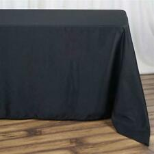 10 Pk 90x132 in. Polyester  Rectangle Seamless Tablecloth Wedding Party Banquet