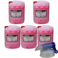 5x 20 L PEMCO Frostschutz ANTIFREEZE 912+ Kühlflüssigkeiten rot + Auslaufhahn