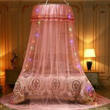 Mosquito Net Bed Lace Netting Dome Led Fairy Lights Canopy Fly Protection Home