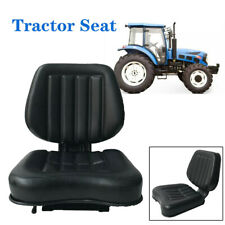 Seat For Forkliftsamptractoramplawn Mower Black Iron Frame Pvc Leather Sponge Filler