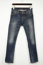 NUDIE JEANS & CO. GRIM TIM ORGANIC TWISTED BLUE Men's W30/L32  Jeans 43129_GS