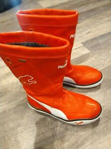 Puma Luff Gore Tex Shoes Performance Sailing Waterproof Boots Mens Size 9 Red