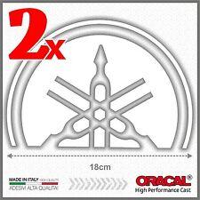 2x White Yamaha Tmax 01-07 SMALL Diapason Scudo ADESIVI PEGATINA STICKERS