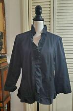 Talbots Black Ruffled Unlined blazer Size 16P