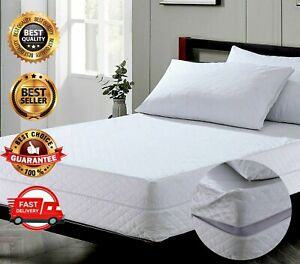 Extra Deep Quilted Mattress Protector - Comfortable Breathable Bedding Protector