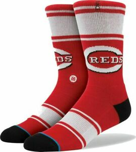 Stance Men Red Crew Knit MLB Cincinnati Reds The Big Red Machine Socks L/XL 9-13
