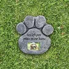 Paw Print Dog Cat Pet Memorial Headstone Garden Picture Grave Personalized