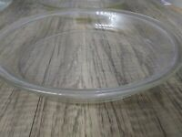 """Vintage Pyrex Clear Glass 10""""  #209  Rimmed Pie Plate Oven Safe Microwavable"""