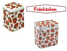 Set Strawberry Fruit Tin Tea caddy Coffee canister Storage