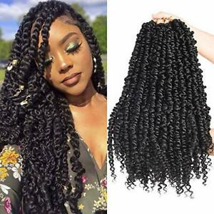 Silike 6 Packs Passion Twist Crochet Hair for Black Women 18inch Pre twisted ...