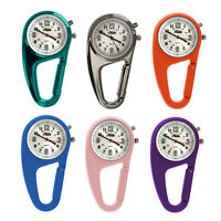 Relda Clip On Belt Doctors Nurses Carabiner Light Backlight Pocket Fob Watch