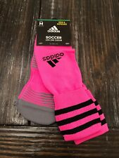 adidas Copa Zone Cushion Soccer Knee High Hot Pink Black Socks 8414 Size Medium