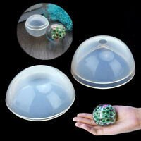 Ball Shape Crystal Silicone Necklace Pendant Jewelry Making Mold Resin Craft DIY
