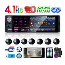 Autoradio radio de coche bluetooth 1DIN MP3 manos libres car RDS USB TF Colorido