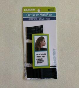 CONAIR SOFT TOUCH MULTI PACK HAIR PINS  Black - 60 Count Bobby Pins 55180