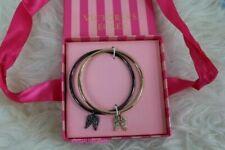 Victoria's Secret Rhinestone Supermodel Angel Wings Bangle Bracelet Set