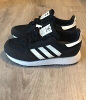 Adidas Youth Forest Grove J Originals Shoes Sneakers Black/white 3.5Y EE6557
