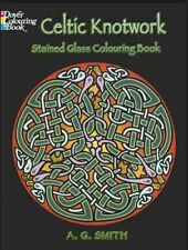 Celtic Knotwork Stained Glass Coloring Book Dover Design Colorin