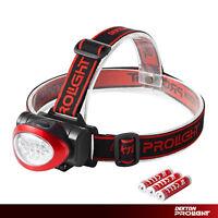 Dekton Pathfinder LED Head Light Torch Headlamp 55 Lumens 10M Range & Batteries