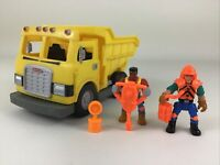 Imaginext Dump Truck Construction Vehicle Workers Tools Jackhammer Fisher Price
