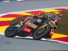 MAX Biaggi 250 Aprillia GP Moto Motocicletta Racing Arte Pittura Stampa