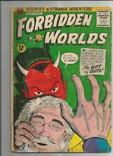 FORBIDDEN WORLDS # 113 GD+  GOOD+ OW/WHITE PAGES SILVER AGE 1963 ACG COMICS