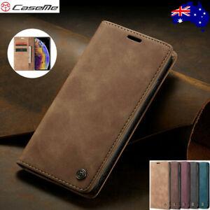 CaseMe Magnetic Leather Wallet Case iPhone 13 12 11 Pro Max Mini Xs XR 8 7 6Plus