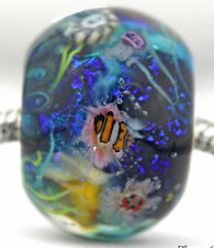 CORAL REEF FOCAL Mandy Ramsdell .925 silver european charm glass bead lampwork