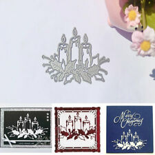 Christmas Candle Metal Cutting Dies Card Stamping Stencil DIY Crafts