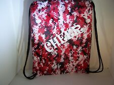 Cheer Bags | Liberty Drawstring | Camo Red w/White Glitter Cheer Design |18Lx14W